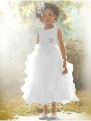 Alfred Angelo Jasmine Inspired White Shimmer Organza Dress