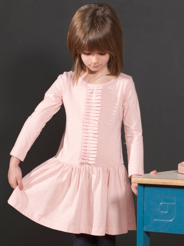 Anthem of the Ants Whisper Pink Pleated Recital Dress
