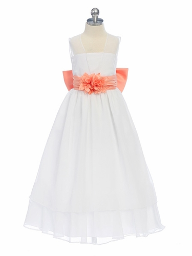 Apricot Sweet Beginnings Chiffon Dress