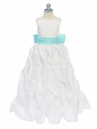 Aqua Sweet Beginnings Puckered Dress