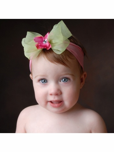Baby Bling Rosie/Kiwi/Berry Bow Headband