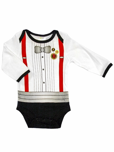 Baby Gear Long Sleeve Dress Up Bowtie Bodysuit