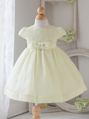 Baby Girl Ivory Vintage Charm Lace Dress