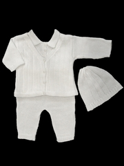 Baby's Trousseau 3 Piece Sweater Set w/ Hat