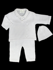 Baby's Trousseau 3PC V-Neck Sweater Set