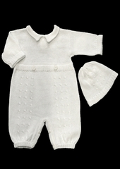 Baby�s Trousseau Collard Knitted 2 Button Romper