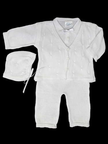 Baby's Trousseau Long Sleeve 3PC Mock Vest Set