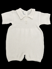 Baby�s Trousseau Short Sleeve 3 Button Knit Romper