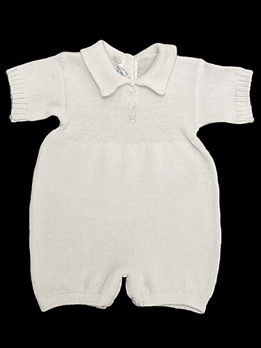 Baby's Trousseau Short Sleeve 3 Button Knit Romper