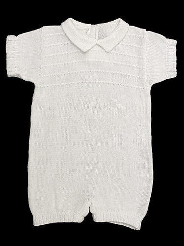 Baby's Trousseau Short Sleeve Collared Romper