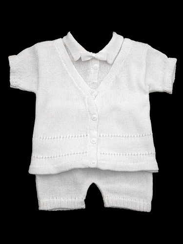 Baby's Trousseau V-Neck with Bowtie Look Two Piece Set