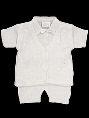 Babys Trousseau 2 Piece Mock Vest Knit Set