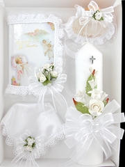 Baptism 4 Piece Candle Gift Set - Spanish