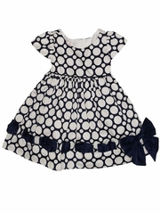 Biscotti Baby Girl Navy & White Riviera Romance Dress