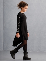 Biscotti Black High Low Dress