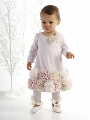 Biscotti Cozy Couture Pink Rosette Dress