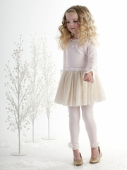 Biscotti Cozy Couture Pink Sweater & Skirt Set