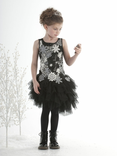 Biscotti Modern Princess Black Dress