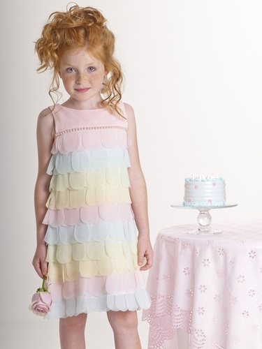 Biscotti Petal Parfait Dress