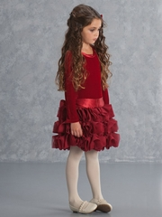Biscotti Red Elegant Holiday Dress