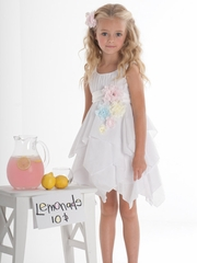 Biscotti White Flower Girl Dress