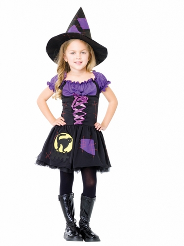 Black Cat Witch Kids Costume for Girls