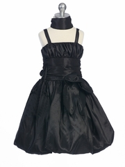 Black Flower Girl Dresses - Taffeta Chic Bubble Dress