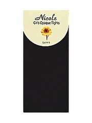 Black Girls Nylon Opaque Tights