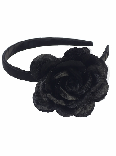 Black Headband w/ Large Flower