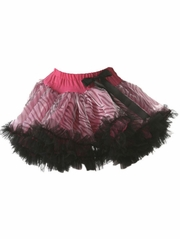 Black & Hot Pink Zebra Print Pettiskirt