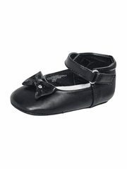 Infant Girls Black Bow Detailed Dress Shoes
