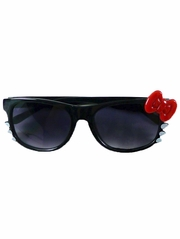 Black Kids Smoke Gradient Polycarbonate Lens Sunglasses w/ Red Bow