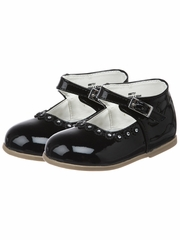Black Patent First Walker Shoes - Chicas by JOSMO Kids