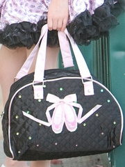 Black Popatu Ballet Shoes Handbag