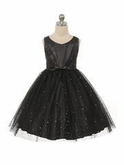 Black Sparkly Tulle Dress