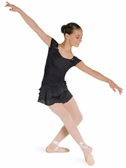 Bloch Black Cap Sleeve Leotard