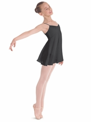 Bloch Black Juliet Camisole Empire Dress Leotard