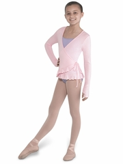 Bloch Candy Pink Soft Jersey Wrap Top w/ Frill