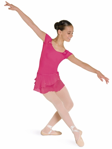 Bloch Hot Pink Cap Sleeve Leotard