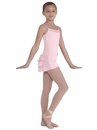 Bloch Pink Ruffle Back w/ Beaded Front Short