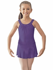 Bloch Purple Round Yoke Leotard