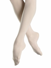 Bloch White Endura Footed Tights