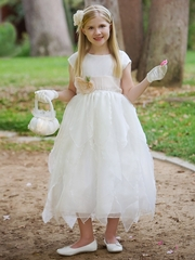Blossom Ivory Organza Dress w/ Petals Skirt