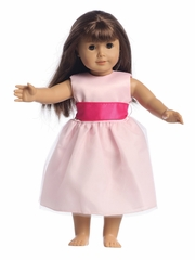 Blossom Ivory Satin Bodice & Tulle Skirt w/ Interchangable Sash Dress for 18� Doll