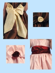 Blossom Taffeta Sash and Flowers