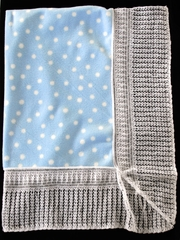 Blue Blanket w/ White Polka Dots