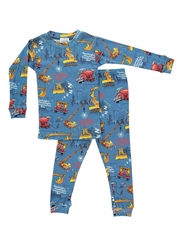 Blue Books To Bed Goodnight Construction Site Pajama Set