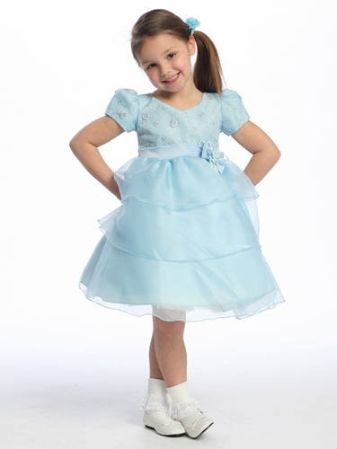 Blue Flower Girl Dress, Flower Girl Dresses, Flower Girl Dress