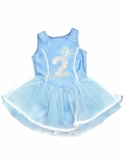 Blue Princess Birthday Tutu Dress w/ Sparkle Number Appliqué