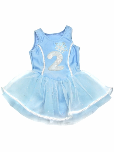 Blue Princess Birthday Tutu Dress w/ Sparkle Number Appliqu�